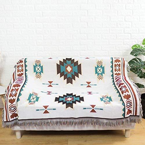 YKOUT Navajo-Decke, Wohnkultur, Azteken, Navajo, Handtuchmatte Baumwollsofa-Decke, Überwurf, Stuhl, Bett, Teppiche, Wandbehang 130X180Cm