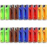 20 Pack Refillable Butane Cigarette Lighter with LED Flashlight