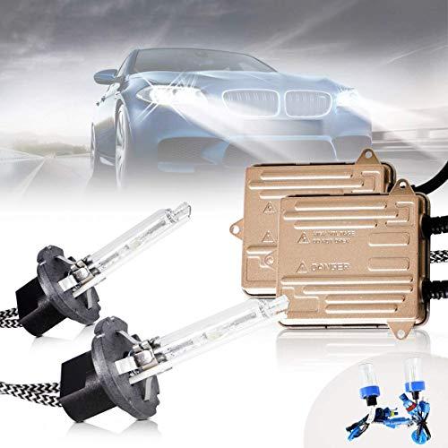 Sidaqi H1 55W HID Xenon Conversion Kit White 6000K for Car Headlight Bulbs