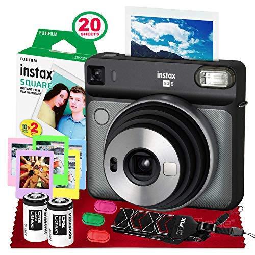 Fujifilm instax Square SQ6 Instant Film Camera (Blush Gold) + 20 Sheets Instant...
