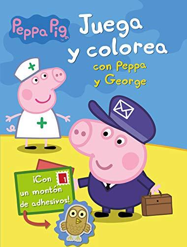 Juega y colorea con Peppa y George (Peppa Pig. Actividades): (Incluye adhesivos)
