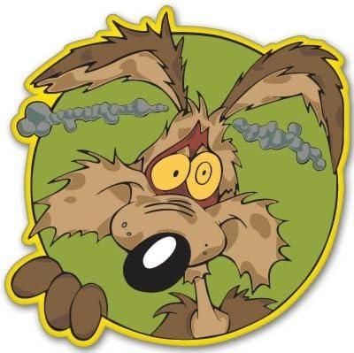 Wile E Coyote Running Decal Sticker Die cut
