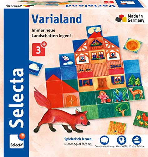 Selecta 63021 Varialand, Legespiel aus Holz, Schmidt Spiele