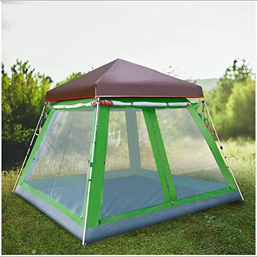 8-persoons familietent Buiten winddicht Regen Waterdicht Draagbaar Enkellaags tent met tent> 3000 mm voor kamperen/wandelen/grotten picknicken Glasvezel Oxfordstof 300 * 300 * 230 cm