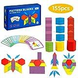 LBLA 155 Blocchi Blocchi di Legno Classico educativo Set di Tangram per Bambini,Tangram Mo...