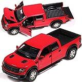 fangzhuo Auto zurückziehen Elektrische Sammlung Ford F-150 SVT Raptor Automodell Rückzug Leichtmetallautos Im Maßstab 1:32 Für Kinder