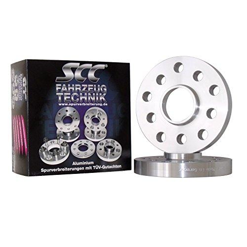 C&S SCC Distanzscheibe ALU 10mm für Lancia Abarth, A112 (Spurverbreiterung System 2) (Lk 120/5 NLB 72,6) (20mm pro Achse)
