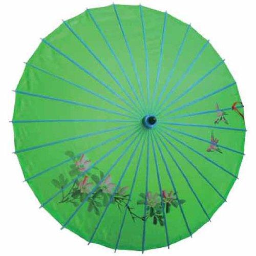 AAF Nommel Sonnenschirm 002, Dekoschirm aus Kunstfaser, Wasserfest in grün aus Bambus