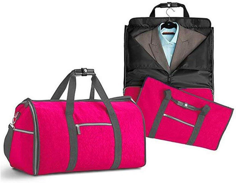 Climb Backpack High Capacity Fold Waterproof Suit Travel Bag Multifunction Handbag Clothing Travel Bag,blueee (color   Red)