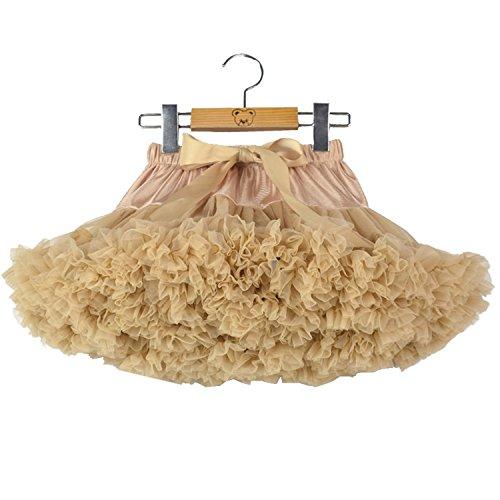 storeofbaby Hinchada plisado de la falda de tul tutú para Niñas 0-1 años / XS Caqui