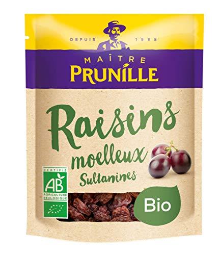 Maitre Prunille Raisins Sultanine Moelleux Bio Fruit Sec 250 g
