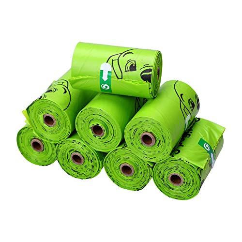 Sacchetti Igienici Per Cane. 120 Pezzi Di Sacchetti Per Cacca Di Cane Biodegradabili A Prova Di Perdite Al 100% Extra Spessi. Adatto Per Lo Stoccaggio Di Escrementi Di Cani E Immondizia.