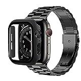 KAPU Coque + bracelet pour Apple Watch 6 Band 5 4 SE 44 mm 40 mm Coque de protection d'écran en...