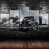 Impresión 5 Piezas Lienzo Brabus 800 Widestar Mercedes-Amg G63 Casa Sala Oficina Regalo Decoración Mural Hd Imágenes Póster 5 Piezas Artística Cuadros 5 Piezas De Pared Fotos Cuadros En Lienzo