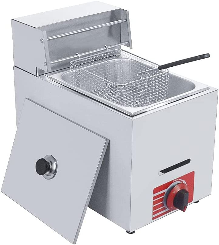 Special Campaign Homier 10L Commercial Ultra-Cheap Deals Countertop Fryer, Gas Deep