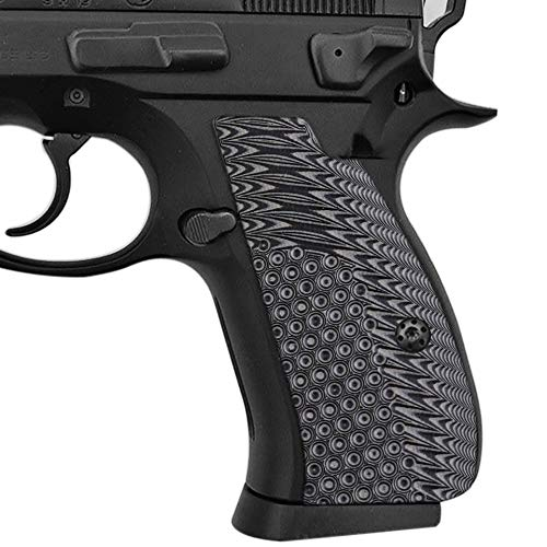Cool Hand G10 Grips for CZ 75/85 Compact, CZ P-01, P100, C100, T100, PCR, CZ 75 D, Screws Included, Gun Metal, SPC-N1-5