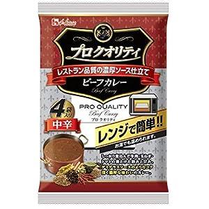 """ハウス プロクオリティ ビーフカレー 4袋入り 中辛 680g ×6袋"""""""