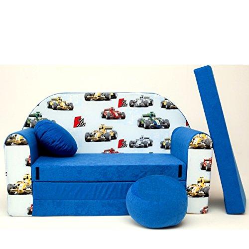 C22-a Enfants Enfants Bébés Mini Canapé Canapé lit Pouf Lot de 3 en 1 d'oreillers en Mousse