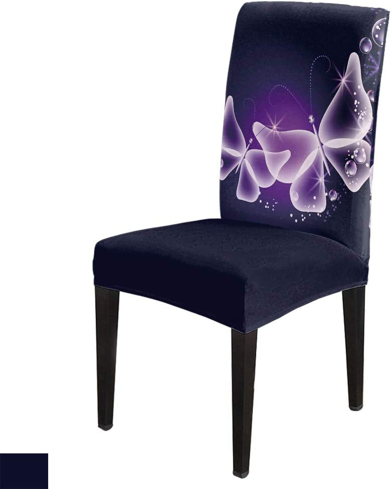 Sale price 8 PCS Stretch Washable Purple Butterflies Slipcovers Chair Ranking TOP16