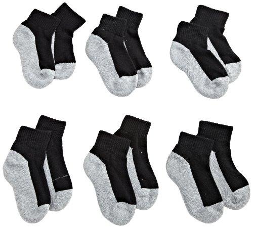 Jefferies Socks Little Boys' Seamless Sport Quarter Half Cushion Socks (Pack of 6),...