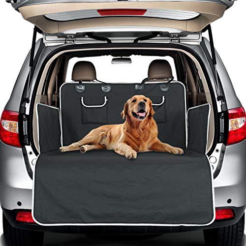 honeyguaridan Auto Kofferraumschutz für Hunde – Wasserdicht & rutschfest & Kratzfest Universal Hundedecke Auto Kofferraum, 4 Lagen, Langlebige Kofferraum schutzmatte mit Seiten- und Ladekantenschutz