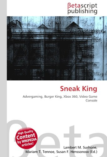 Sneak King: Advergaming, Burger King, Xbox 360, Video Game Console