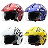 Casco de Moto para niños Casco Moto Electrica para Niños para Halley Medio...