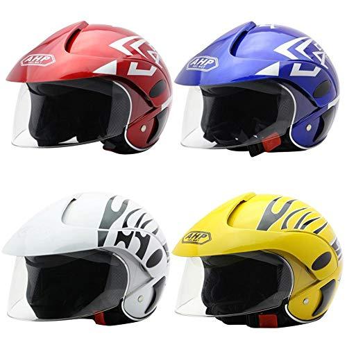 Casco de Moto para niños Casco Moto Electrica para Niños para Halley Medio Casco Seguridad Otoño e Invierno Casco niños