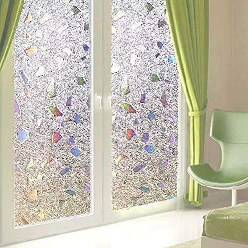 Película de Ventana de Piedra de Color 3D Pegatina de Vidrio electrostático Esmerilado película Decorativa autoadhesiva de Papel de Aluminio para el hogar R 45x100cm