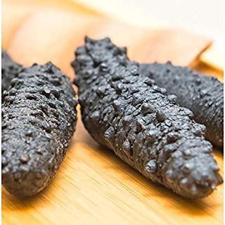 XLSEAFOOD Sun Dried Wild Caught Black pin Atlantic Sea Cucumber AAAA Grade 5 year 45-60 pcs per pack 美国旭龙行 野生淡干海参 北极冰刺参岩刺参 一级品 5年参 小号 45-60 pcs per pack 8OZ-227g (small)