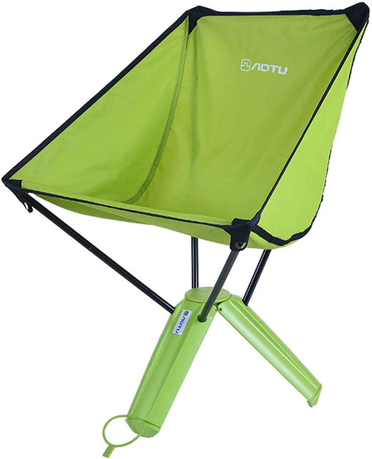 Portable Folding Chair, QuicklyFold Outdoor Camping Stool Slacker Stool Applicable to Travel Mountain Climbing BBQ Fishing Beach,Green