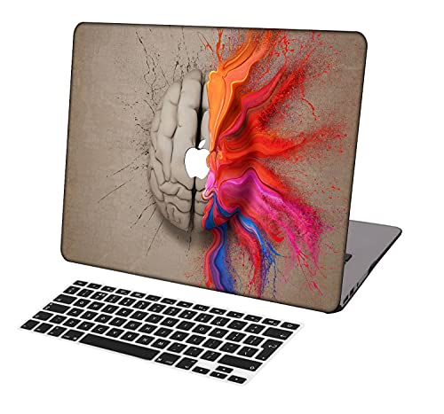 Laptop Case for MacBook Pro 13 inch Retina Model A1425/A1502,Neo-wows(2 in 1 Bundle) Plastic Ultra Slim Light Hard Shell Cover UK Keyboard Cover Compatible MacBook Pro 13 inch No CD ROM,Creative A 28