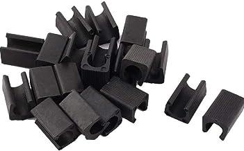 Plastic stoel voet U-vormige vloer glijdt buizenstelsel Caps Cover 12mm Dia zwart voor buisvormige stalen stoelen (Pack va...