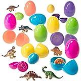 PREXTEX Huevos de Pascua Rellenos de Mini Dinosaurios y Huevos con...