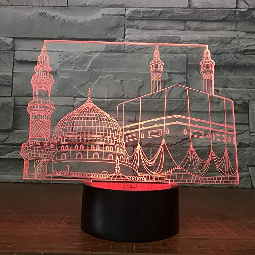 DFDLNL Tempelschloss palast 3D Lampe 7 Farbe led nachtlichter Touch led USB Tisch lampara Lampe Baby schlafen Beleuchtung für wohnkultur