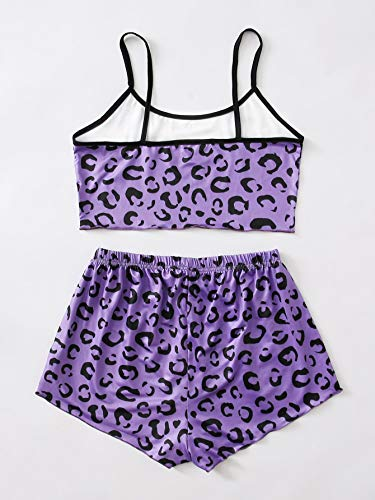 SweatyRocks Women's Summer Strawberry Print Cami Top and Shorts Sleepwear Pajamas Set