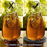 Aujelly Filz Untersetzer rund 10er Set, Untersetzer Gläser Getränkeuntersetzer mit Box, als Glasuntersetzer für Getränke, Tassen, Bar, Glas(Grau Untersetzer) - 7