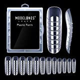 Modelones 120pcs Coffin Nails Clear Ballerina Nail Tips Full Cover