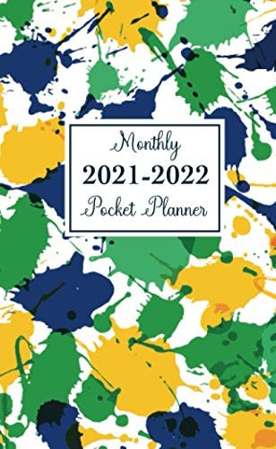 2021-2022 Monthly Pocket Planner: Two Year Pocket Planner with Holiday, 2-Year Small Calendar, 24 Months Agenda Schedule Organizer, Appointment Book Purse Size 4x6.5 Mini