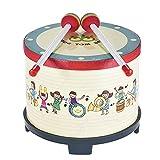 Instrumento de madera de la percusión del carnaval del club de la reunión del tambor del piso de 8 pulgadas con 2 mazos para los niños - Quarkscm