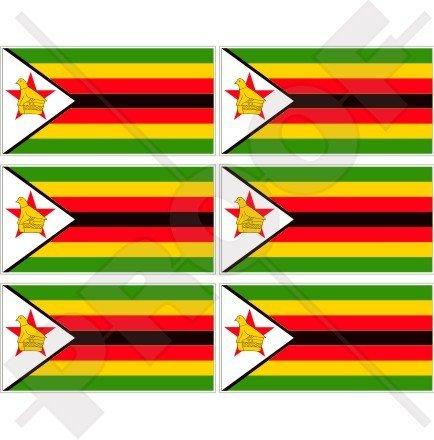 Zimbabwe Drapeau Afrique Rhodésie Afrique, 40 mm (40,6 cm) Téléphone Mobile Mini en vinyle autocollants, Stickers x6