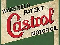 カストロールモーターオイル 金属板ブリキ看板警告サイン注意サイン表示パネル情報サイン金属安全サイン