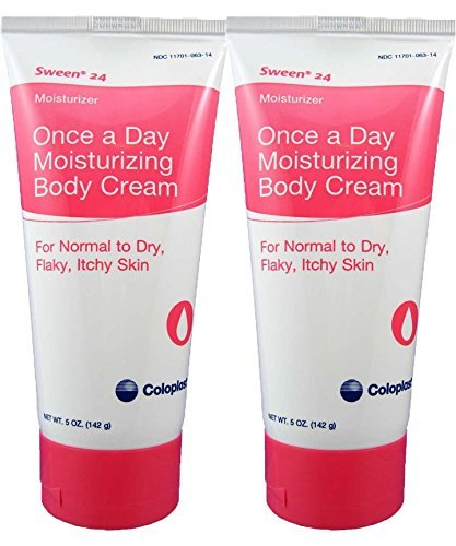 Coloplast Sween 24 Once a Day Moisturizing Body Cream For Normal, Dry, Flaky and Itchy Skin (2) 5oz Tubes
