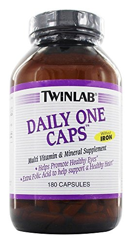 TWINLAB DAILY ONE WITHOUT IRON, 180 CAP