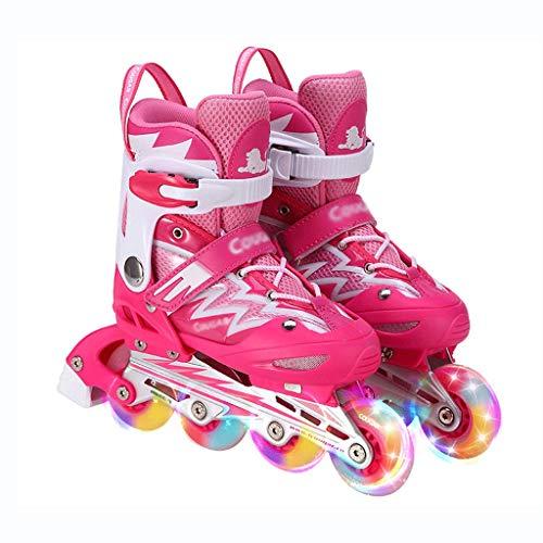 QSs-Ⓡ Toy Shop 7 Rad VERSTELLBARE Inline-Skates Kinder Kinder Jungen MäDCHEN Roller Blades