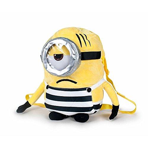 MNN Minions - Peluche mochila minion preso un ojo, boca triste 24cm Calidad super soft