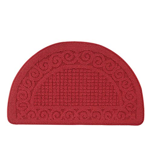 Amazing Deal CarPet Polypropylene semi-Circular Floor mats Home Living Room Bathroom Water-Absorbing...