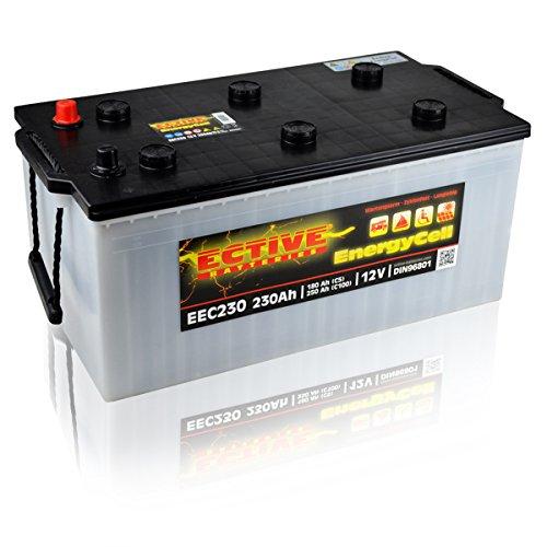 ECTIVE 12V 230Ah Nass Batterie EEC-Serie Solar Versorgungsbatterie in 5 Varianten: 80Ah - 230Ah (wartungsfrei)