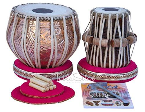 Maharaja Tabla set–Acquista 3.5kg Pro designer rame Bayan, Finest Dayan (pdi-cjh)