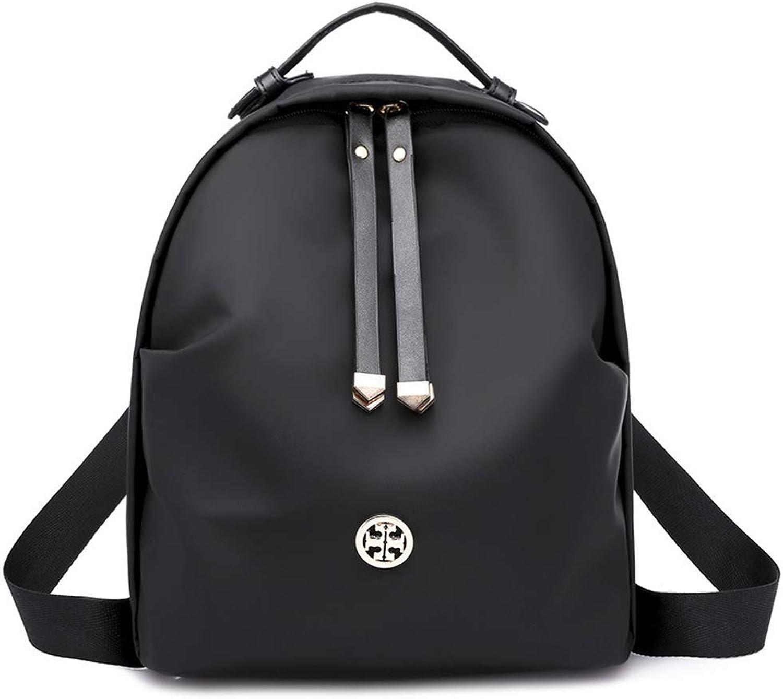 IF.HLMF damen Backpack, Ladies Fashion Nylon Travel Rucksack School Bags Leisure Shoulder Bag (Farbe   schwarz, Größe   26X22X14CM)